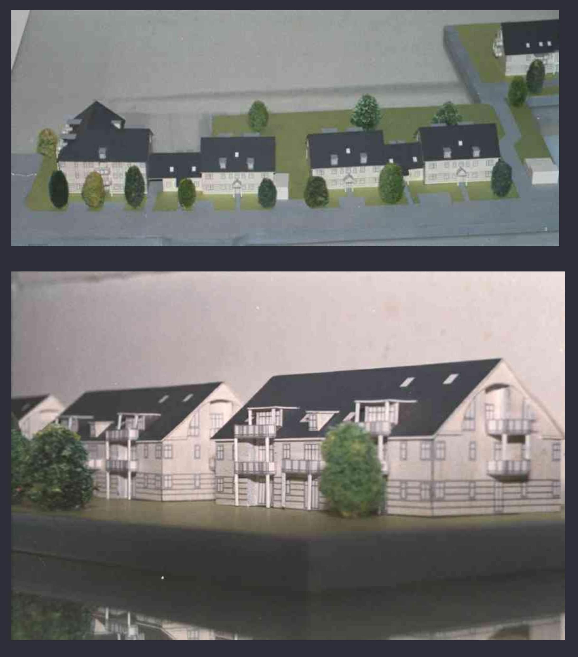 Material: Plexiglas, Mit Plan Plots Beklebte Hausfassaden Wohnhaussiedlung  ...