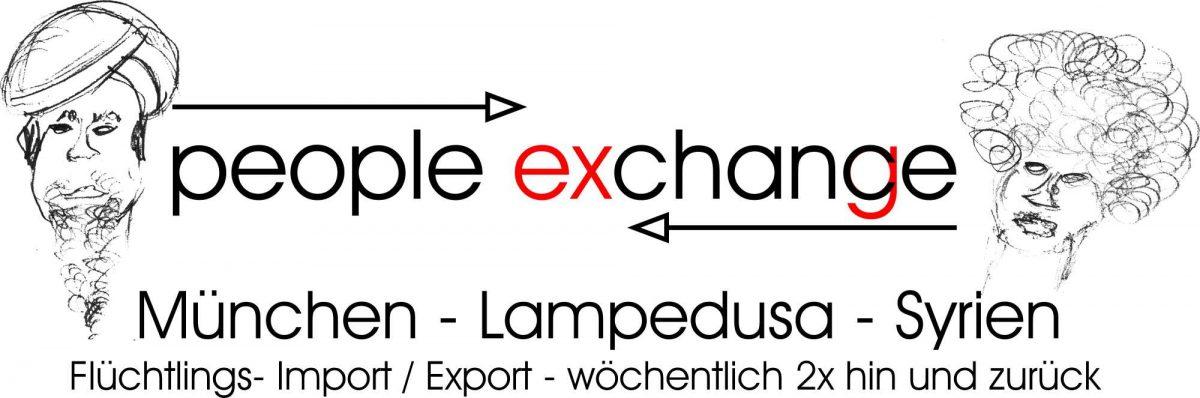 People exchange