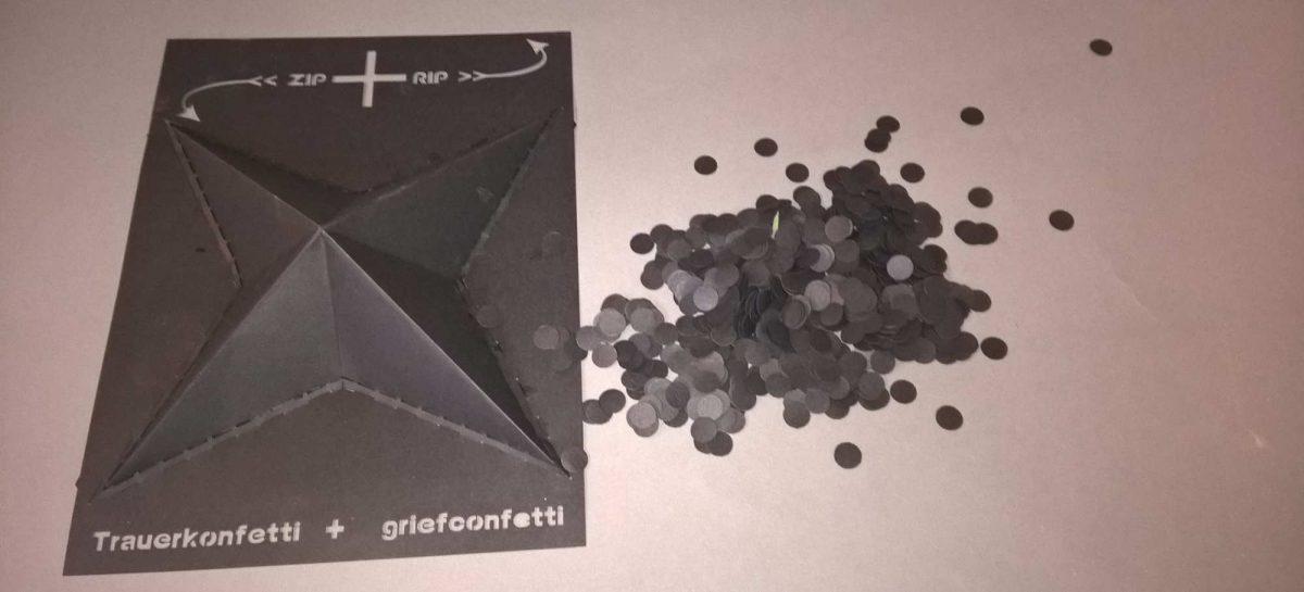 ZIP + RIP : Trauerkonfetti